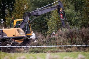 Polisen fortsätter sin tekniska undersökning av platsen under torsdagen.