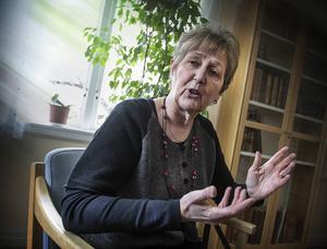 – Kunskaperna skall föras vidare till nya generationer vävare, säger Ulla Berglund Brasch