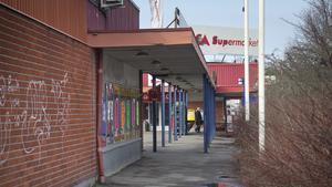 Inte längre tiptop. Ösmo centrum var modernt när det invigdes 1972. Men i dag är det slitet.