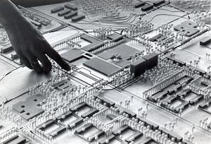 Bäckby på planeringsstadiet i oktober 1970.