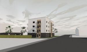 Så här ser skissen ut för bygget på Molinsgatan.