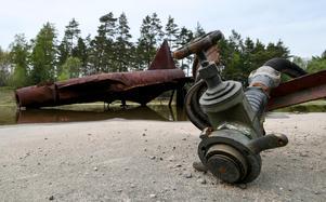 Brandövningsplatsen på F17 i Kallinge där brandskum med PFAS användes.