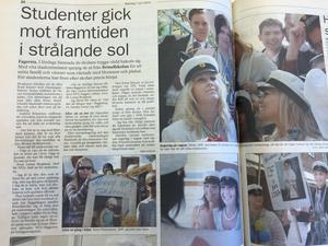 Måndag 7 juni 2004 berättade Fagersta-Posten om studentdagen som ägde rum på en lördag.