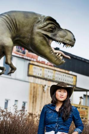 Dinosaurien och dess lekland har just nu övertaget mor westernkrogen.