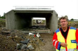 Den nya viadukten som ska bredda genomfarten under E 4 vid Klökanvägen.