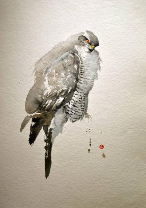 Detalj ur en av Karl Mårtens bilder som visas på Galleri Remi.