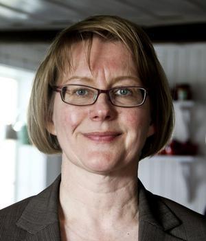 Ingela Broström från Länsstyrelsen Gävleborg föreläste om hälsingegårdarnas vackra väggar.