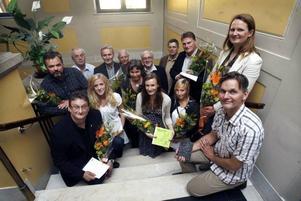 Här är alla pristagare och stipendiater som firades med blommor och tårta i Gävle stadshus igår.