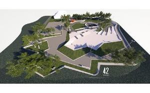 Så här ska skateparken se ut när den är färdigbyggd. Foto: 42 architects