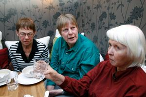 Vera Nordström, Ann-Kristin Jäderström och Birgit Hillman var tre av många som ville veta mer om klimat och mat.