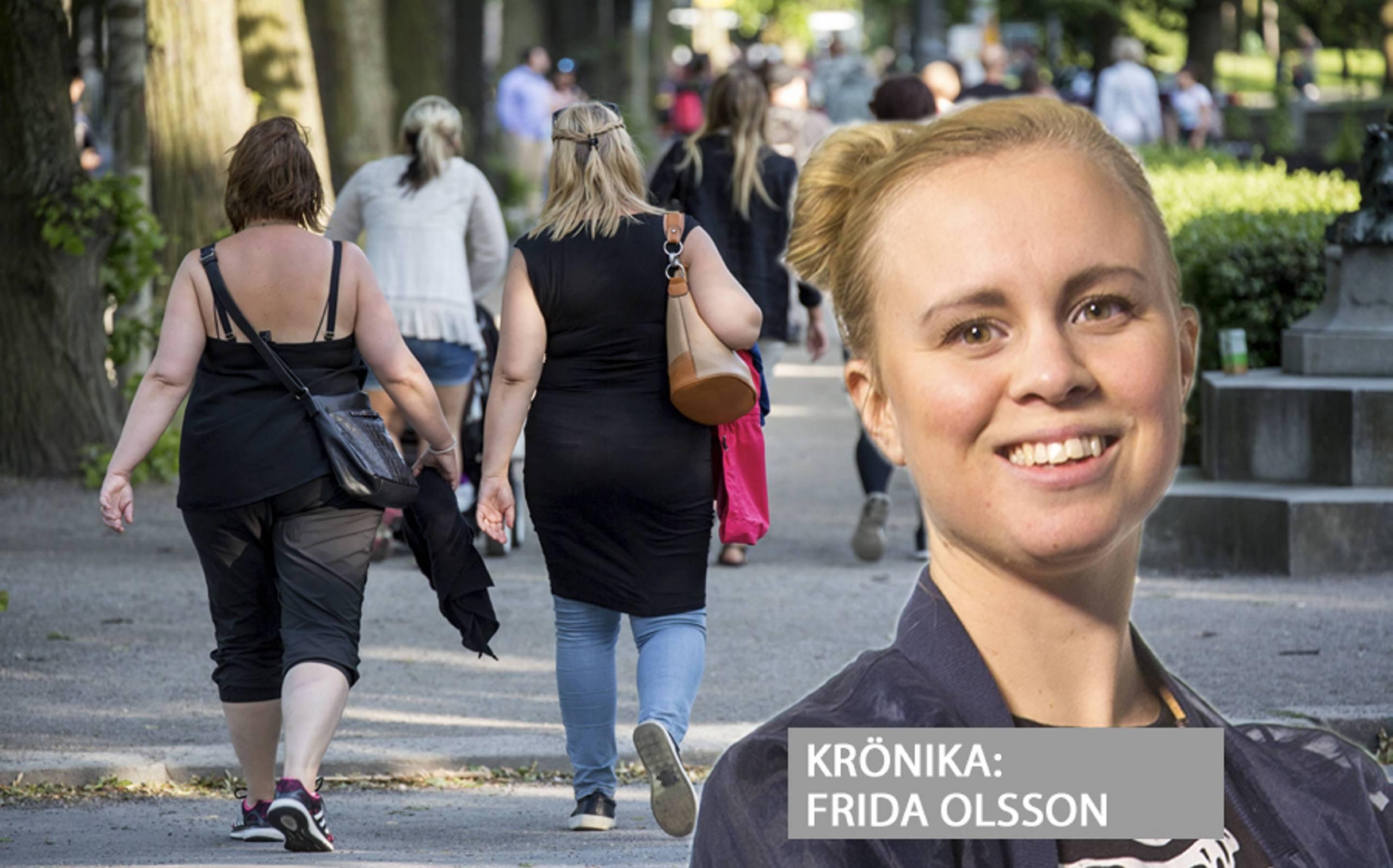 Kronika vad hander nar fotografen ar en kvinna
