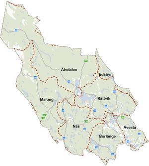 Det finns sex driftområden i Dalarna.