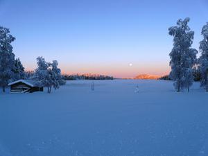 Bild från Bräcke på Luciamorgonen. Foto: Kenneth Näslund