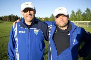 Mohammed Fahkreddinne och Joel Ygberg är tränare för Ope Zlatan. Båda har söner i laget och brinner för ledarrollen.