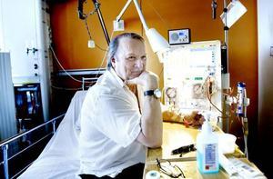 Mår bra. Dialysen sliter på kroppen, men Ingemar Nordmark gör vad han kan för att hålla fysiken i trim. Gym och promenader tillhör vardagen.