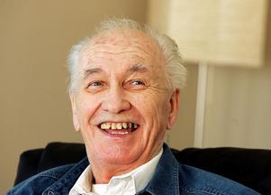 Arné Domnerus i en TT-intervju 2004. Han gick bort fyra år senare.