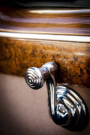 Detaljerna är välbevarade i parets Cadillac Coupe Deluxe från 1941.