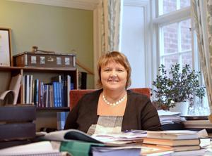 Kommunalrådet AnnSofie Andersson mellan två möten på sitt kontor i Rådhuset.