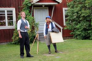 Jonas med målaren Jonas Wallström, spelad av Birgitta Ederyd Forsblom.