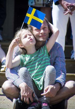Alva Dahlstyf och Mikael Dahl firade nationaldagen vid Gruvan.