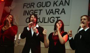 Maria Karström, Andreas och Jennie Fahlcrantz samt Magnus Karström, en stark kvartett.