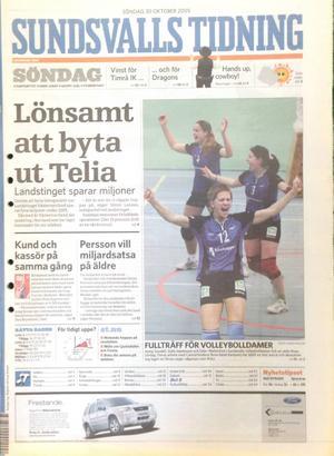 Första sidan av ST den 30 oktober 2005.