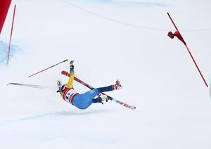 Maria Pietilä Holmner kraschade i dagens storslalomtävling i Semmering.