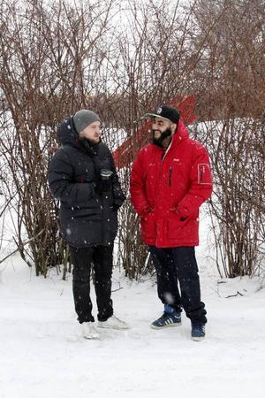 Johan Alander och Lawan Hassan har tillsammans skapat föreläsningen