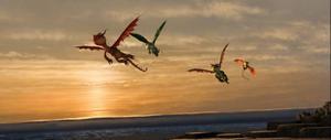 """Drakar, drakar, drakar. """"Draktränarens"""" enda syfte är att visa upp flygande drakar i tre dimensioner.Foto: Paramount"""