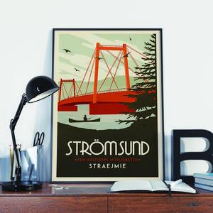 Ortstavlan Strömsund har blivit riktigt populär för sin art déco-stil.