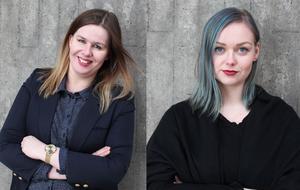 Isabel Engwall och Rebecca Jonsson startade organisationen Teckenspråkets röst under våren 2017. De är båda döva.