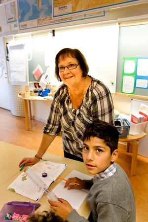 Margoth Hansen på Vallhovskolan driver tillsammans med en kollega ett matematiknätverk för lärarkollegor. Men i går var det