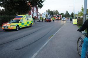 En olycka skedde i Skogsbo under torsdagskvällen.