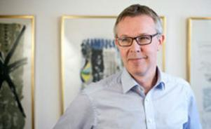 Konkursförvaltaren Peter Thoms arbetar med att syna konkursen i Misterbling. Bild: Arkivbild