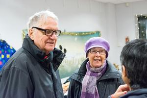 Arne och Siv Lenell hade inte riktigt koll på insamlingen men efter samtalet med Carla Dahlberg ska de komma förbi med en påse julklappar.