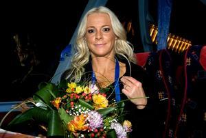 Efter schlager-finalen sa Malena Ernman att hon inte är besviken över 21:a-platsen.
