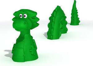 Sjöodjuret som är en lekskulptur kommer att placeras i mitten av lekplatsen.