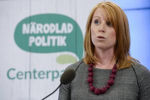 Foto Jessoca Gow / TT.  Centerpartiets partiledare, Annie Lööf, presenterade ett antal förslag med tydlig koppling till svensk landsbygd och som ska ingå i kommande års budget.