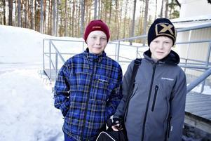 Mer rasism förr. Daniel Quick och Joakim Lindqvist i åttan tycker att det var ganska mycket rasism förr på Sofiedalskolan, men att det har blivit bättre.