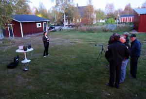 Deltagarna fick höra hur vindkraftsparken kommer att låta.  Foto: Håkan Degselius