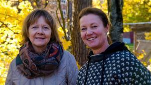 Eva Wieslander och Jessica Wallentin hoppas de får ny utrustning om allt som skänkts och byggts tas bort.