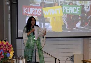 Perihan Karakas Dinc gav både bakgrund och dagsläget i området som kurderna hoppas ska bli ett land en gång.