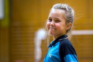 Nadien Olsson vann mixed i U11 tillsammans med Ture Friberg.