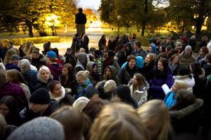 Spökvandringen på Kristine gymnasium drog en stor mängd besökare.