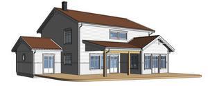 Så här kommer huset att se ut på framsidan.