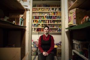 Christine har en dröm om att någon gång öppna ett minimuseum med sina små hästar.
