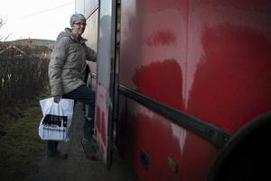 Gunvor Svärd har besökt bokbussen i alla år.