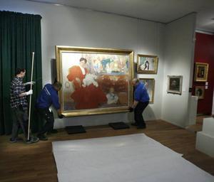 """""""Fru Dora Lamm och hennes två äldsta söner"""" blev besökarnas favorit på Länsmuseet Gävleborg vid en omröstning."""