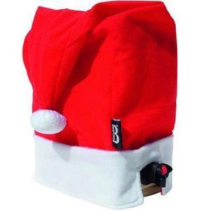 Det brukar bli en del fester i advent och runt jul- och nyårshelgerna. En tomteluva gör även bag-in-boxen julfin. Luvan kostar 65 kronor hos bluebox.se.