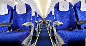 De flesta vill sitta långt fram i flyget.